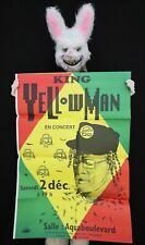 KING YELLOWMAN -  Affiche concert Paris Aquaboulevard - 1993 - 102 x 70 cm
