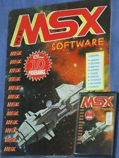Msx software nº 10-magazine + Cassette 1986-Complete!!! with 10 programs