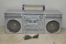 New listing Sanyo C-9 Portable Mini Component Boombox System - tape deck no work -