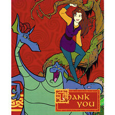 QUEST FOR CAMELOT THANK YOU NOTES (8) ~ Birthday Party Supplies Stationery Cards