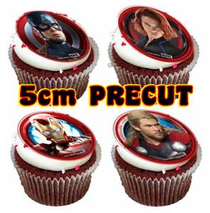 MARVEL AVENGERS HULK Wafer Card PRECUT 5cm Birthday Party Cake Cupcake Toppers