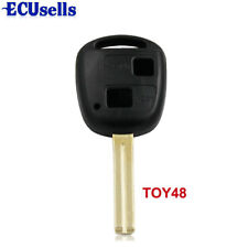 for Lexus 2 Button Remote Key Case Shell IS200 GS300 RX300 LS400 Uncut Key TOY48
