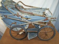Vintage Antique Baby Buggy Project Steel spring type with steel axles