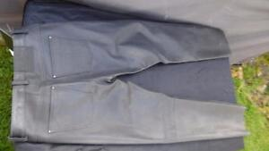 Held Cooper leather motorcycle trousers UK 32 unhemmed