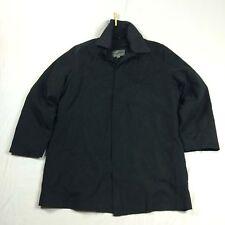 Mens L Johnston & Murphy Car Coat Jacket Overcoat Black Removable lining