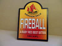 Crouch Vale Fireball Ruby Red Best Bitter Ale Beer Pump Clip 2