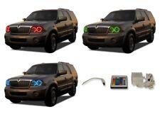 for Lincoln Navigator 03-06 RGB Multi Color IR LED Halo kit for Headlights