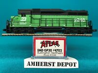 4702 Atlas N Scale GP30 Kato Drive Burlington Northern NIB