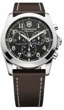 Victorinox Swiss Army Infantry Black Dial Leather Strap Men's Watch 241584