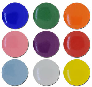 Coloured Button Badges (Bags of 25)