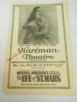 The Eve of St. Mark Hartman Theatre Show Playbill program 1940's