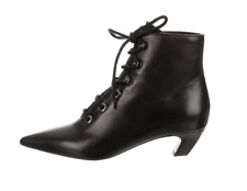 CHRISTIAN DIOR 2017 Black Leather I-Dior Ankle Lace-Up Boots Bootie 8.5-38.5 NEW
