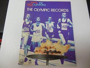 1976 OLYMPICS RECORDS BOOK RARE MONTREAL NICE PIECE OF OLYMPICS HISTORY