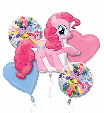 My Little Pony Pinkie Pie Happy Birthday Party Favor 5CT Foil Balloon Bouquet