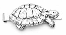Turtle Design Pewter Tie Clip Slide Gift Supplied in Gift Pouch