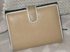 Cellini ladies wallet. Beige purse. 15 card slots. coins notes REDUCED ITEM