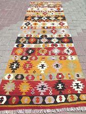 "Anatolian Turkish Wool Long Antalya Kilim Runner 31,1"" x 98,4"" Rug Runner,Carpet"