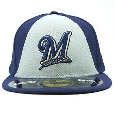 Milwaukee Brewers Unisex New Era Cap Purple Gray Baseball Hat MLB Size 7 5 8 49c23cb21c5d
