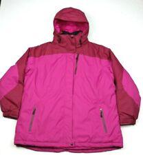 LL Bean Womens Rugged Ridge Pink Insulated Ski Parka Jacket 2X Plus Reg
