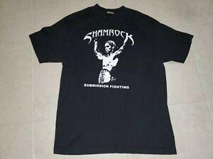 VTG Frank Shamrock Bellator MMA Black T shirt 90s Fight Master UFC Submission L