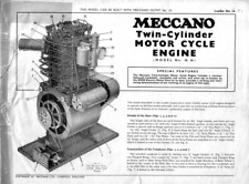 Meccano Model Plan 10.16 Twin Cylinder Motor Cycle Engine