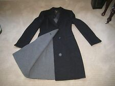 Giorgio Armani Black Label Double-Faced Wool Grays LONG Coat Jacket 40/6/8/M