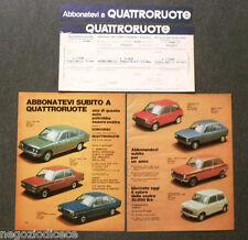 BE85 - Clipping-Ritaglio -1974- ABBONAMENTO QUATTRORUOTE 1974 + CONCORSO