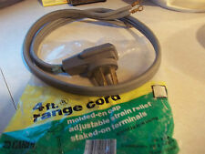 Range Dryer Stove power Supply cord E-46085 ,3 prong cable,4'