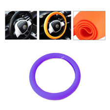 W36-40cm Purple Auto Anti-Slip Soft Friendly Silicone Steering Wheel Cover Cap