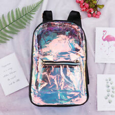Shiny Backpack Rucksack Bag -Clear , Silver,Galaxy-Unisex PU Leather Girls Men