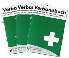 3er Pack Verbandbuch Erste Hilfe - Abreißbare Seiten nach -DSGVO- DIN A5