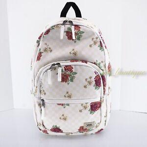 NWT Vans Motivee Backpack School Laptop Travel Bag Checkerboard Floral Multi $55