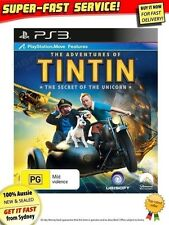 Tintin game Sony PS3 NEW SEALED AUSSIE! Tin Tin DVD movie comic book PlayStation