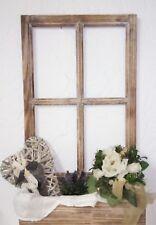 Deko Fenster Fensterrahmen Sprossenfenster mit Blumenkasten Holz Shabby Vintage