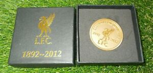 Liverpool LFC 1892-2012 Limited Edition Gold Plated Coin