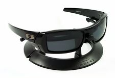 ba4e88e602 OAKLEY GASCAN POLISHED JET BLACK FRAME   REVANT STEALTH POLARIZED CUSTOM  LENSES