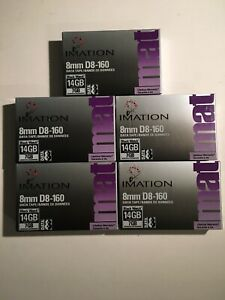 5 Tapes Imation 8mm D8-160 Data 8 Tape 14GB 7GB