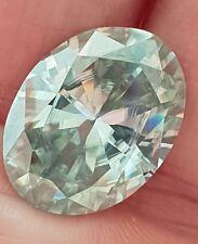 Moissanit - Diamant Glanz 10.06 Karat VVS1 ICE Weiß 17.42 x 13.38 mm wunderschön