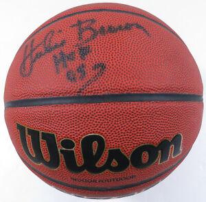 Hubie Brown Autographed Signed Wilson NCAA HOF 2006 NBA Basketball JSA LOA