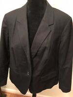 VINCE CAMUTO Women's Plus Size 16W Blazer Jacket Career One-Button Rich Black