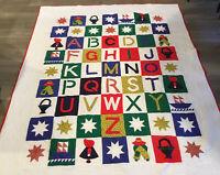 Patchwork & Appliqué Quilt, ABC's, Stars, Ships, Sunbonnet Sue, Calico Prints