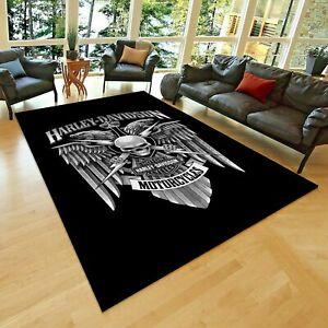Harley Davidson 202, Area Rug,Non Slip Floor Carpet,Teen's Carpet 3x5ft