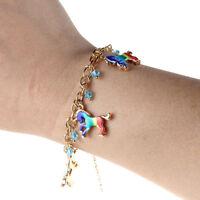 Cute Colored Unicorn Horse Charm Handmade Chain Bracelet Women Girl Gift