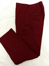 Men's 30/30 Slim Fit Pants EXPRESS Burgundy NWT Retail $69.90 Young Men's
