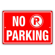 No Parking With P Symbol Notice Warning Novelty Outdoor Aluminum Metal Sign