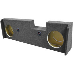 """Qpower Dual 10"""" Woofer box for 2014-Current GMC/Chevy Crew Cab Under seat dow..."""