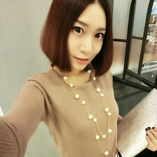 NEWLY Fashion Women MultiLayer Long Pearl Necklace Pendant Sweater Chain Jewelry