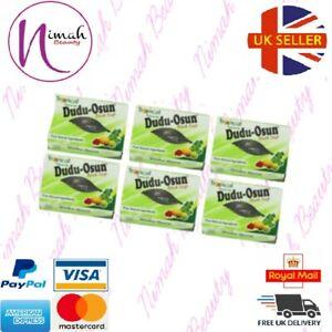 6 x Dudu Osun African Black Soap 150g for eczema, Acne, fungus (6 PACK)