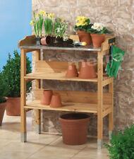 Pflanztisch Holz Pflanzen Tisch Gärtnertisch Zinkplatte