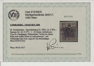 L-V 1850 10C, TIEFSCHWARZ! HP, Type I.b, P.F.! SASSONE:275,-€! VÖB! PRACHT!